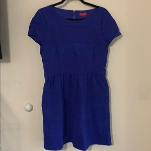 Cobalt Blue Knot Dress with Back Zipper & Pockets